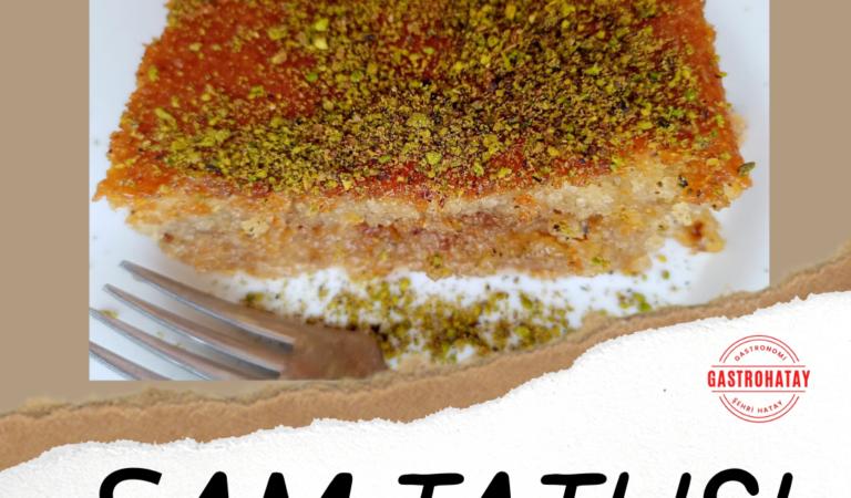 Böyle bir Şam Tatlısı daha önce yemediniz.
